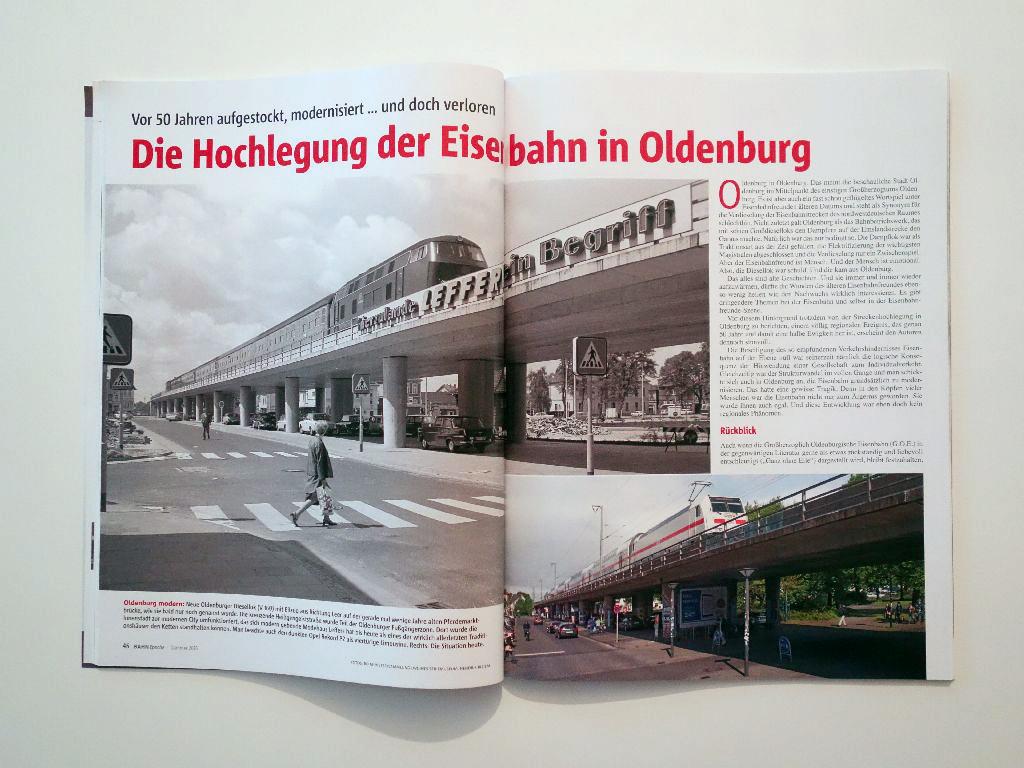 Hendrik Bloem Die Hochlegung der Eisenbahn in Oldenburg